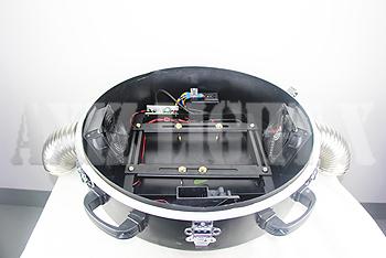 ムービングライト&サーチライト専用カバー/カプセル型ドーム型仕様/専用カプセルカバ-内部写真1【AXIZLight専用ムービングライト&サーチライト照明レインカバー仕様】