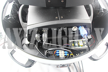 ムービングライト&サーチライト専用カバー/カプセル型ドーム型仕様/専用カプセルカバ-内部写真2【AXIZLight専用ムービングライト&サーチライト照明レインカバー仕様】